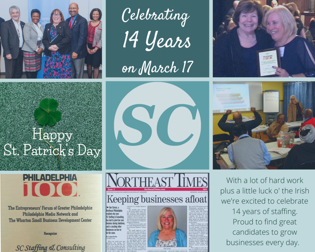 14 years of staffing services