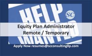 Equity Plan Admin Remote Temp