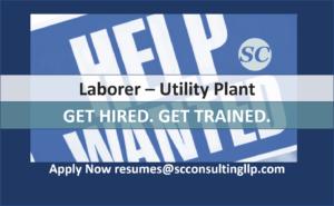Laborer Utility Plant Employer Training