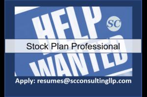 Stock Plan Professional Now Hiring